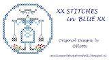 XX STITCHES in BLUE XX  DESIGNS BY HETTI