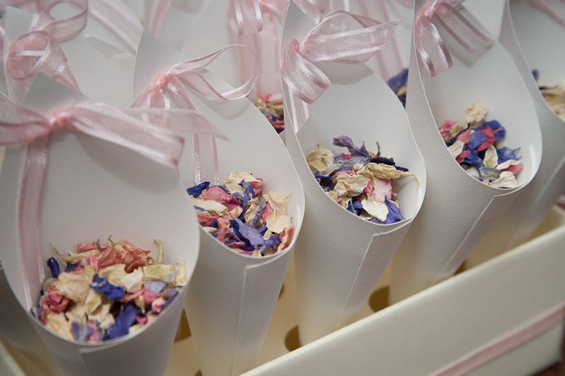 Wedding confetti, dried flowers