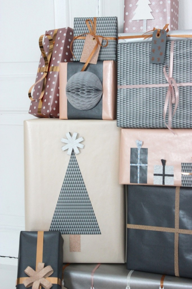 pretty gift wrapping ideas Christmas