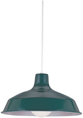 Sea Gull 6519-95 Painted Shade 1 Light Green Pendant Emerald Green