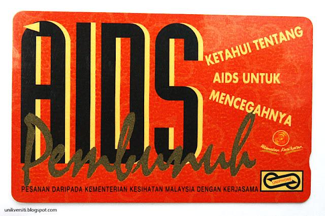 kad telefon awam Malaysia - AIDS pembunuh