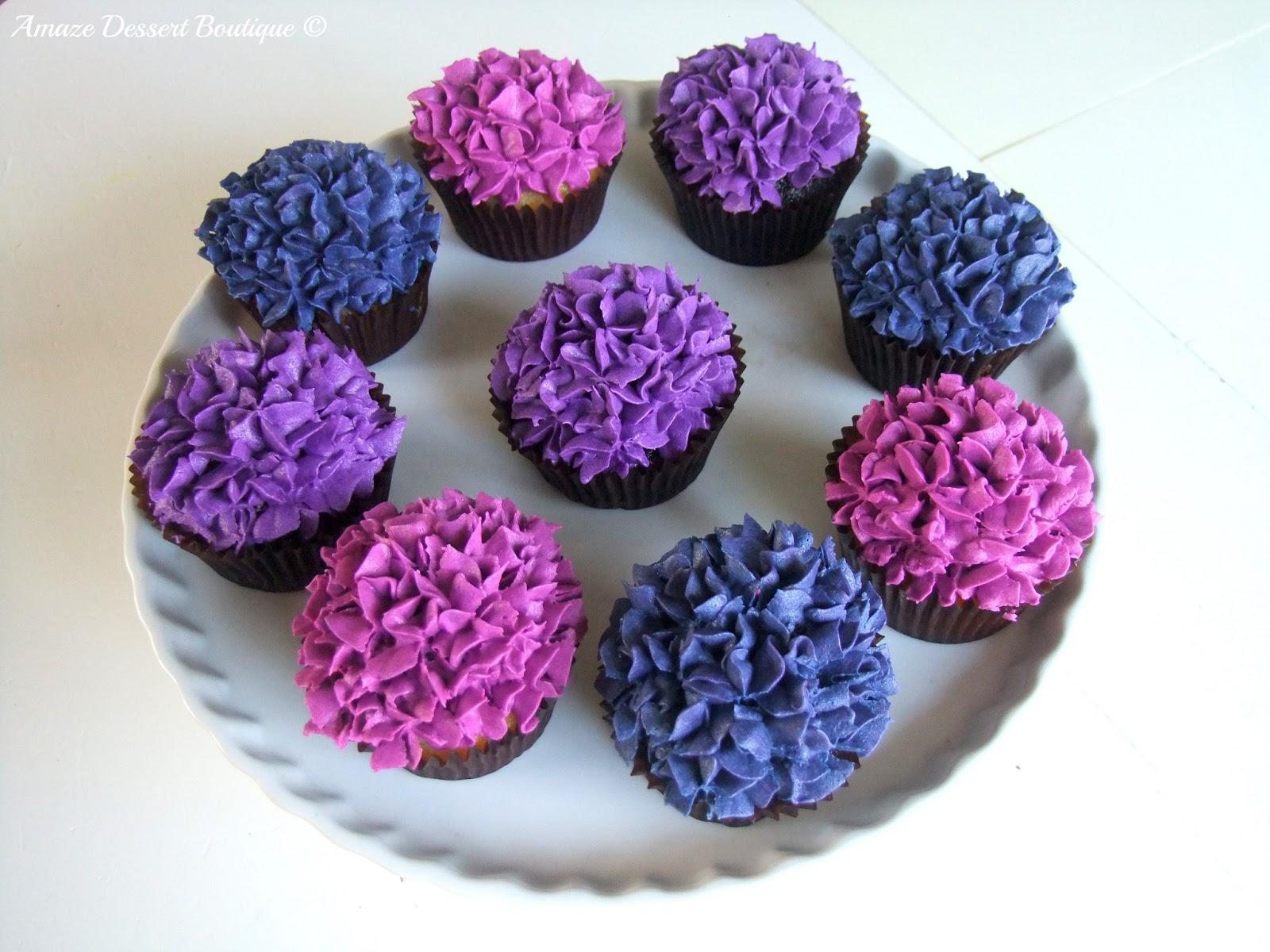 Amaze Dessert Boutique Hydrangea Cupcakes