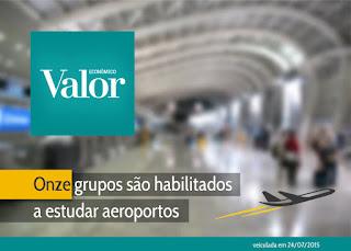 Onze grupos são habilitados a estudar aeroportos