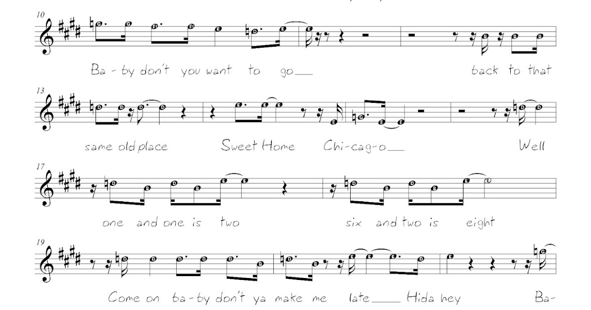 Pianopad Upload Community This Song Titled Sweet Home Chicago
