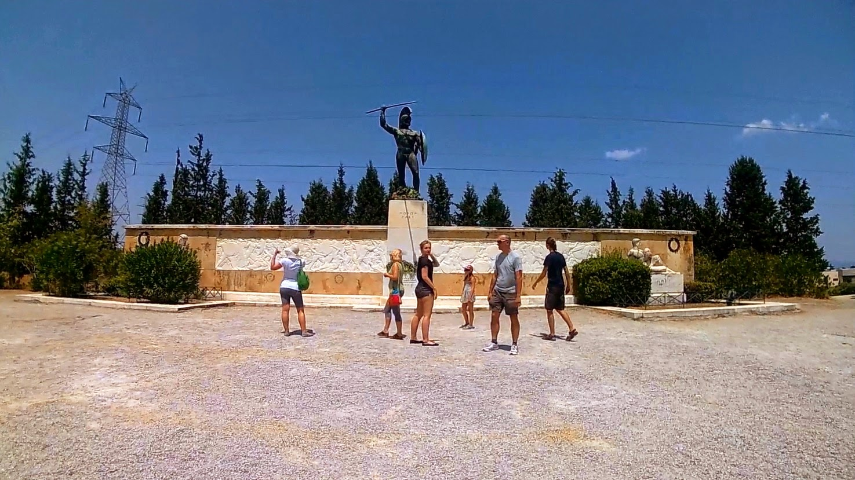 Pomnik Leonidasa. Termopile. Grecja
