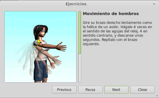 Workrave - ejercicios