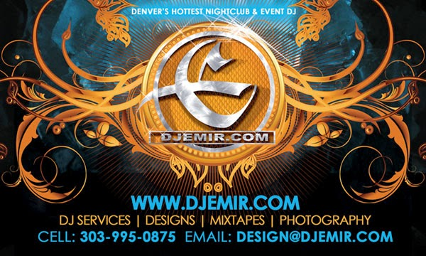 DJ Emir Logo Design And Advertisement Design