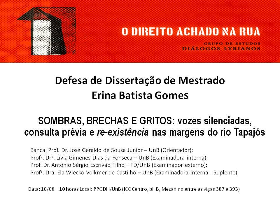 Convite Defesa - Dissertação de Mestrado