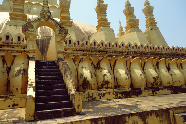 Laos, Vientiane, That Luang, Temple