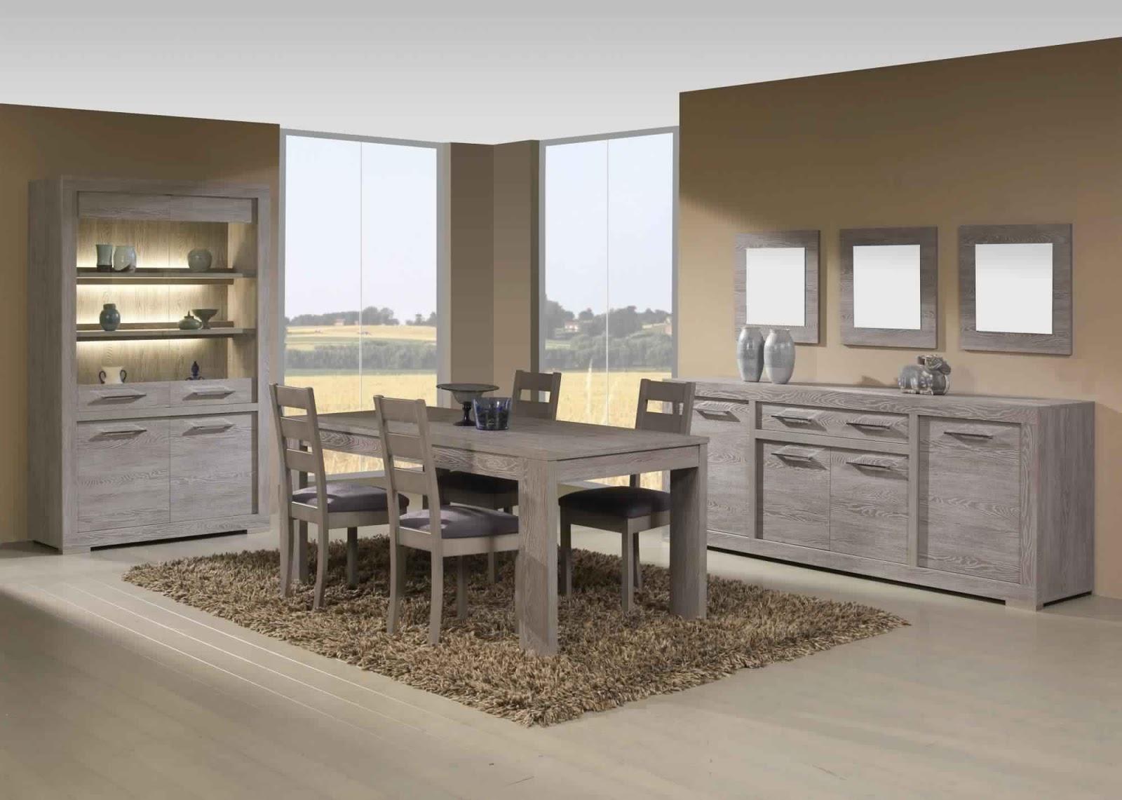 Salle à manger complète avec table ronde   salle à manger