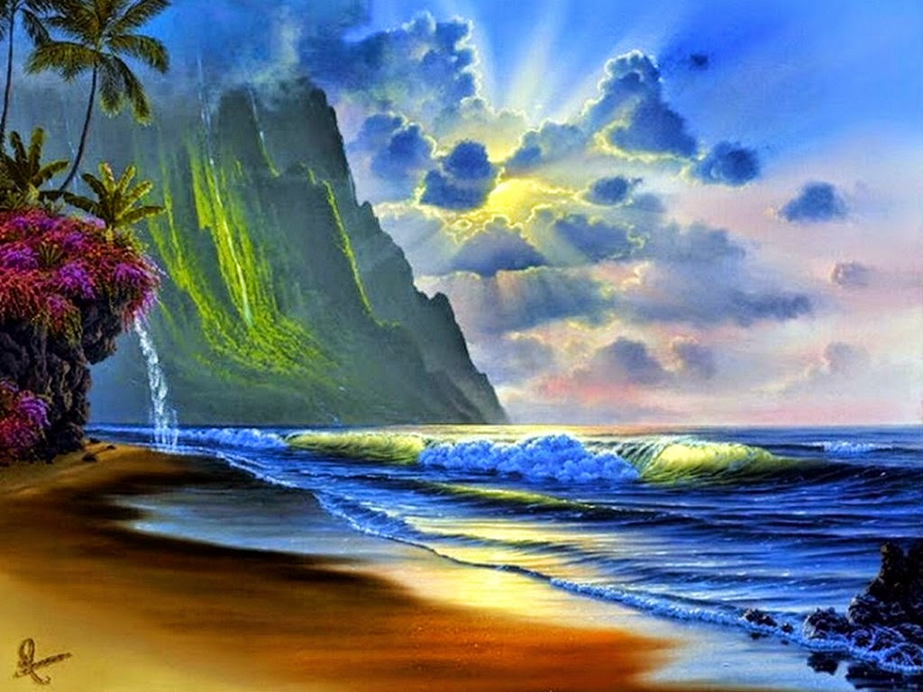 Cuadros de paisajes con playa car interior design for Pinturas bonitas para casas