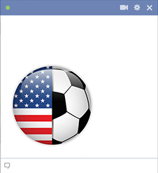 USA flag soccer emoticon