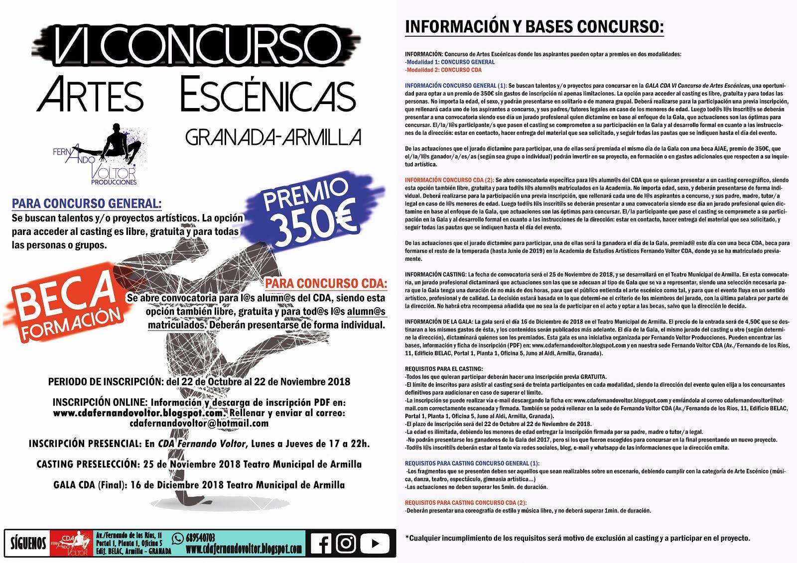 VI Concurso Artes Escénicas