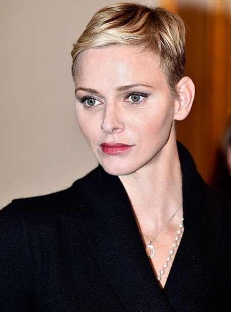 Princess Charlene of Monaco attends parcels distributtion at the Monaco Red Cross headquarters