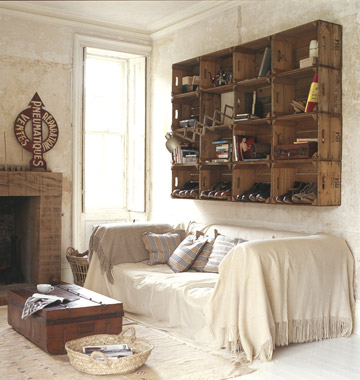 Wooden Crate Wall Ideas