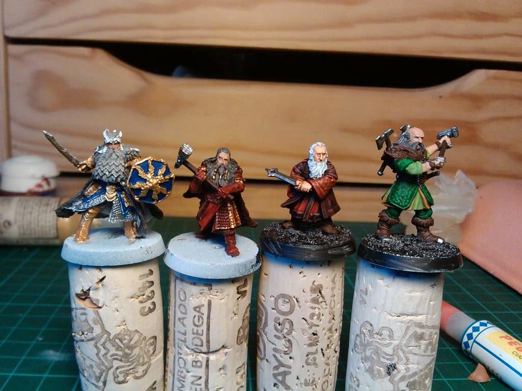 Enanos de El Hobbit en proceso