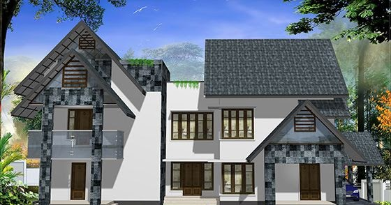 Western style home design in kerala house design plans for Western style homes pictures