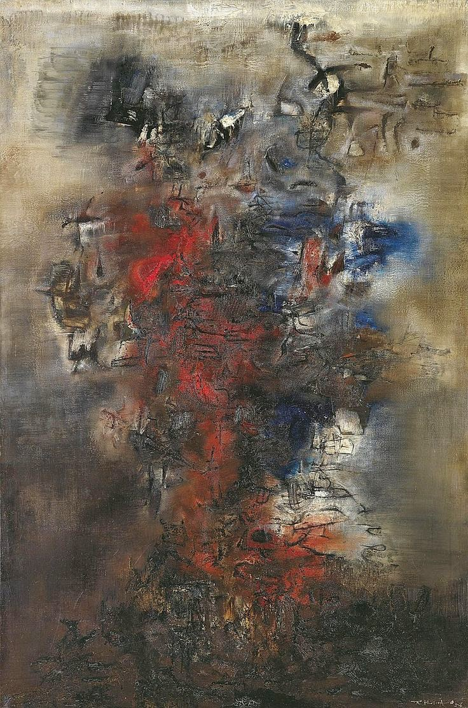 Zao Wou-Ki Hommage а Tout-Fou 1956