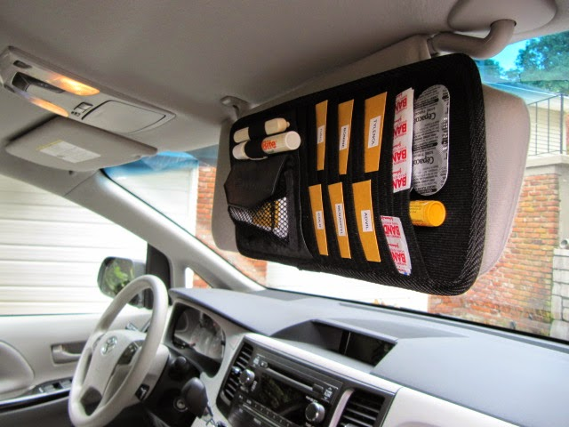 car visor first aid kit