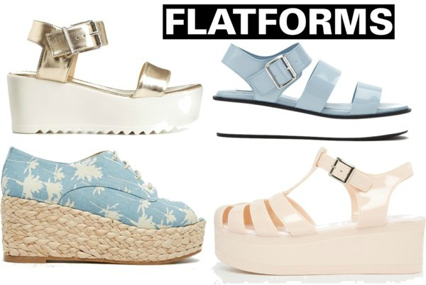 Spring/Summer 2015 Fashion Essentials flatforms shoes