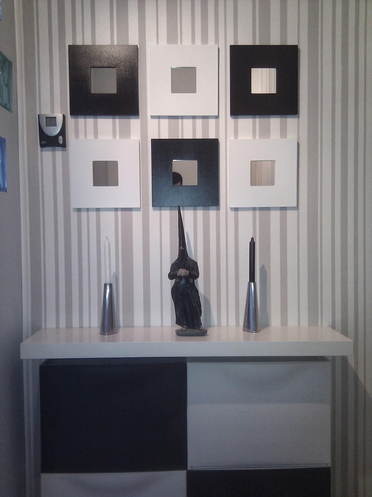 Un recibidor amueblado con trones lack y malma mi llave - Muebles para entradas ikea ...
