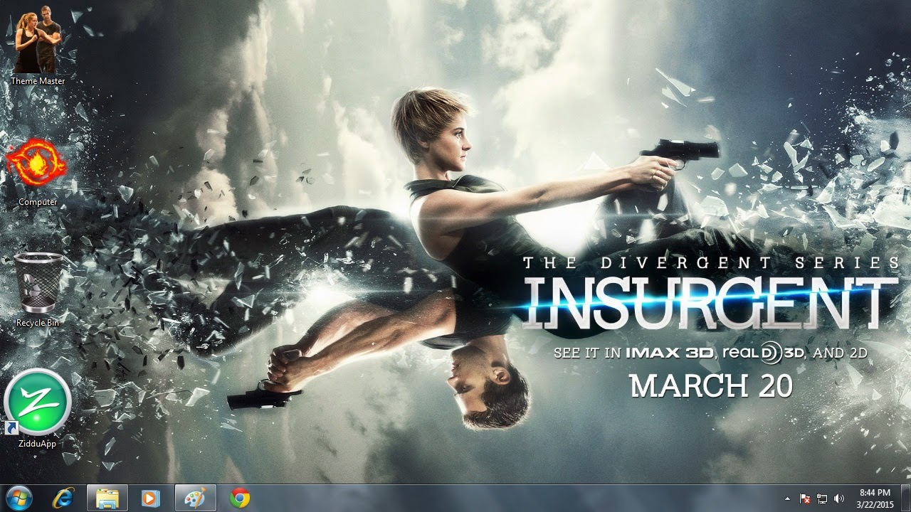 How to install Insurgent Shailene Woodley Theme for PC