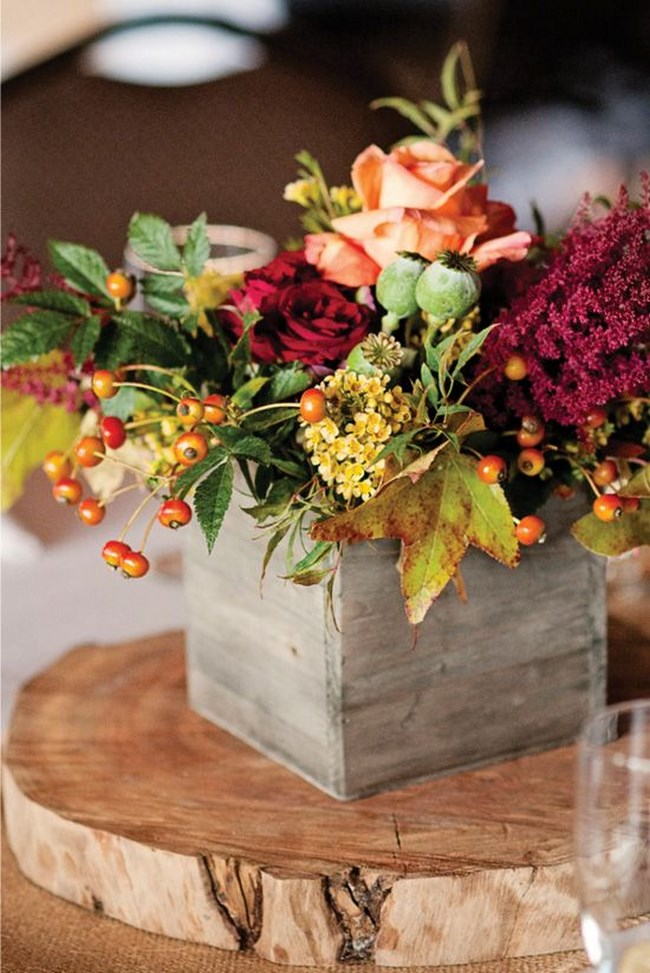Centros de mesa con cajas de madera para tu boda centros de mesa - Mesas con cajas de madera ...