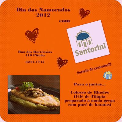 Sugestão para comemorar o Dia dos Namorados 2012: Santorini Café