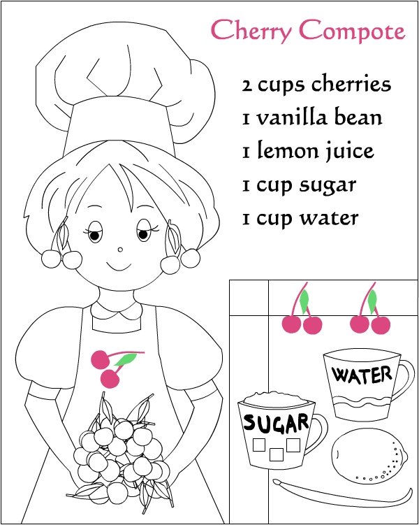 Recipe Coloring Pages For Desktop