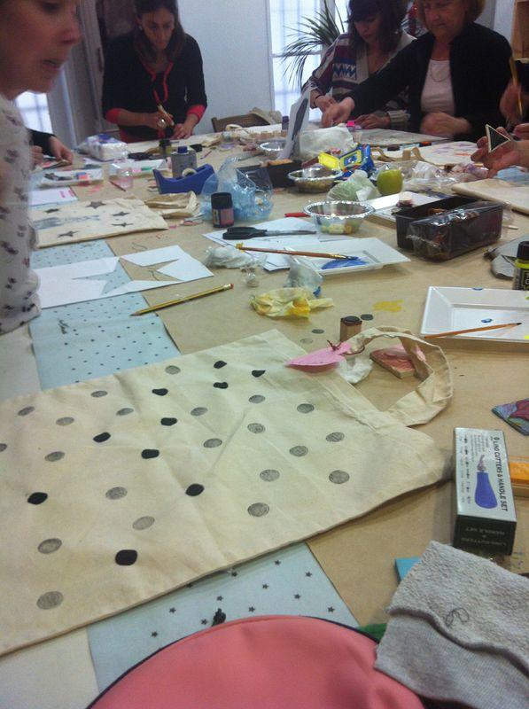 kilika hecho a mano estampación textil