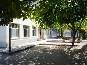 A entrada da escola
