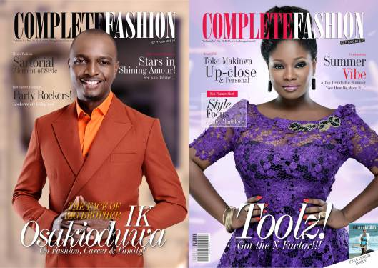 Toolz and IK Osakioduwa dazzle on cover of Complete Fashion (LOOK)