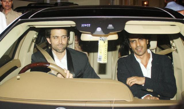 Hrithik Roshan & Arjun Rampal at Anil Ambani's Party For Steven Spielberg