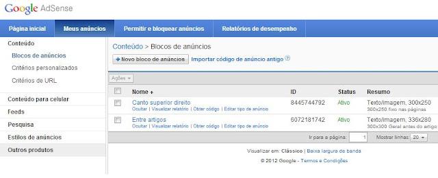 Google Adsense como colocar em seu Tumblr e monetizar seu Blog. 2