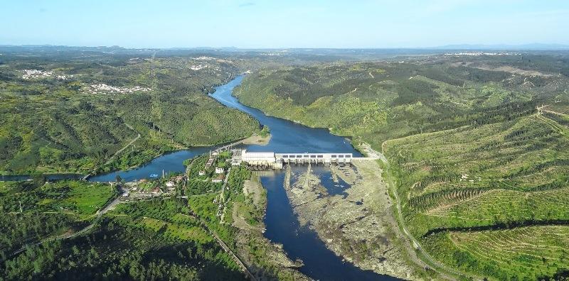 Barragem Hidroeléctrica de Belver - Vista aérea