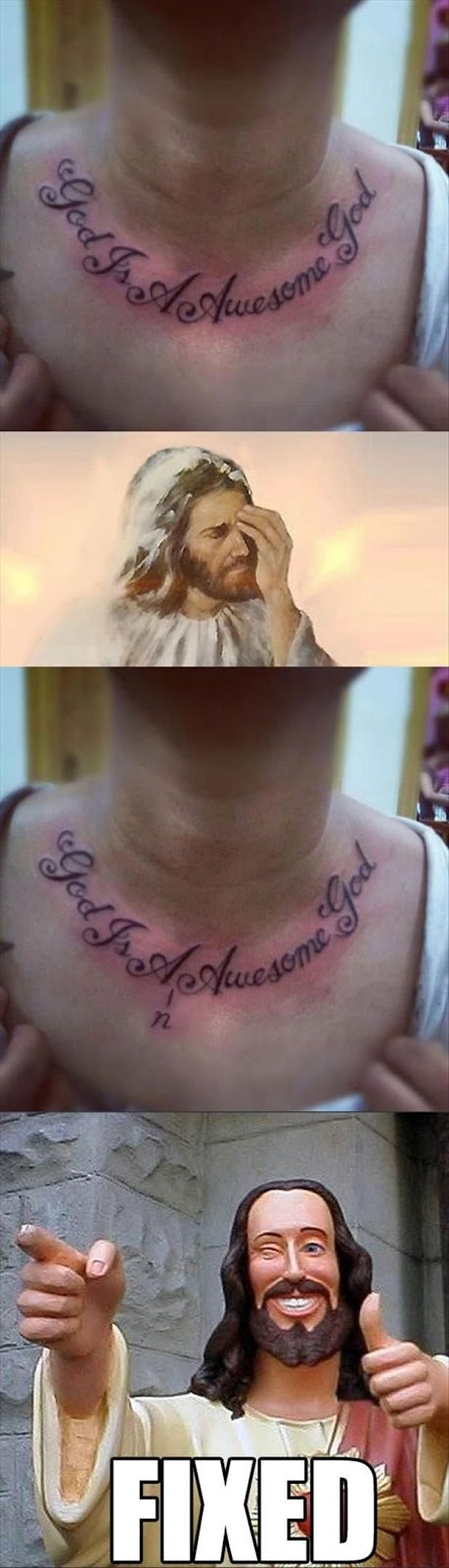 Funny Jesus Tattoo Fix Picture