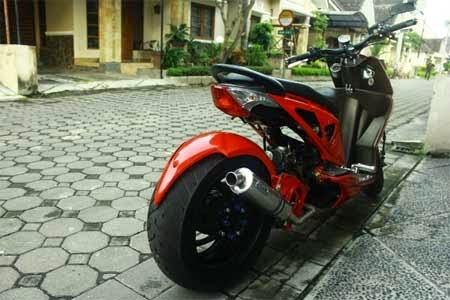modifikasi ban besar Honda BeAT