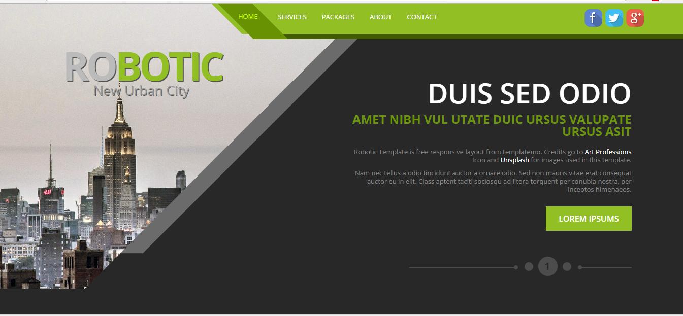 Download HTML Template Robotic-Urban - IslamicUmah