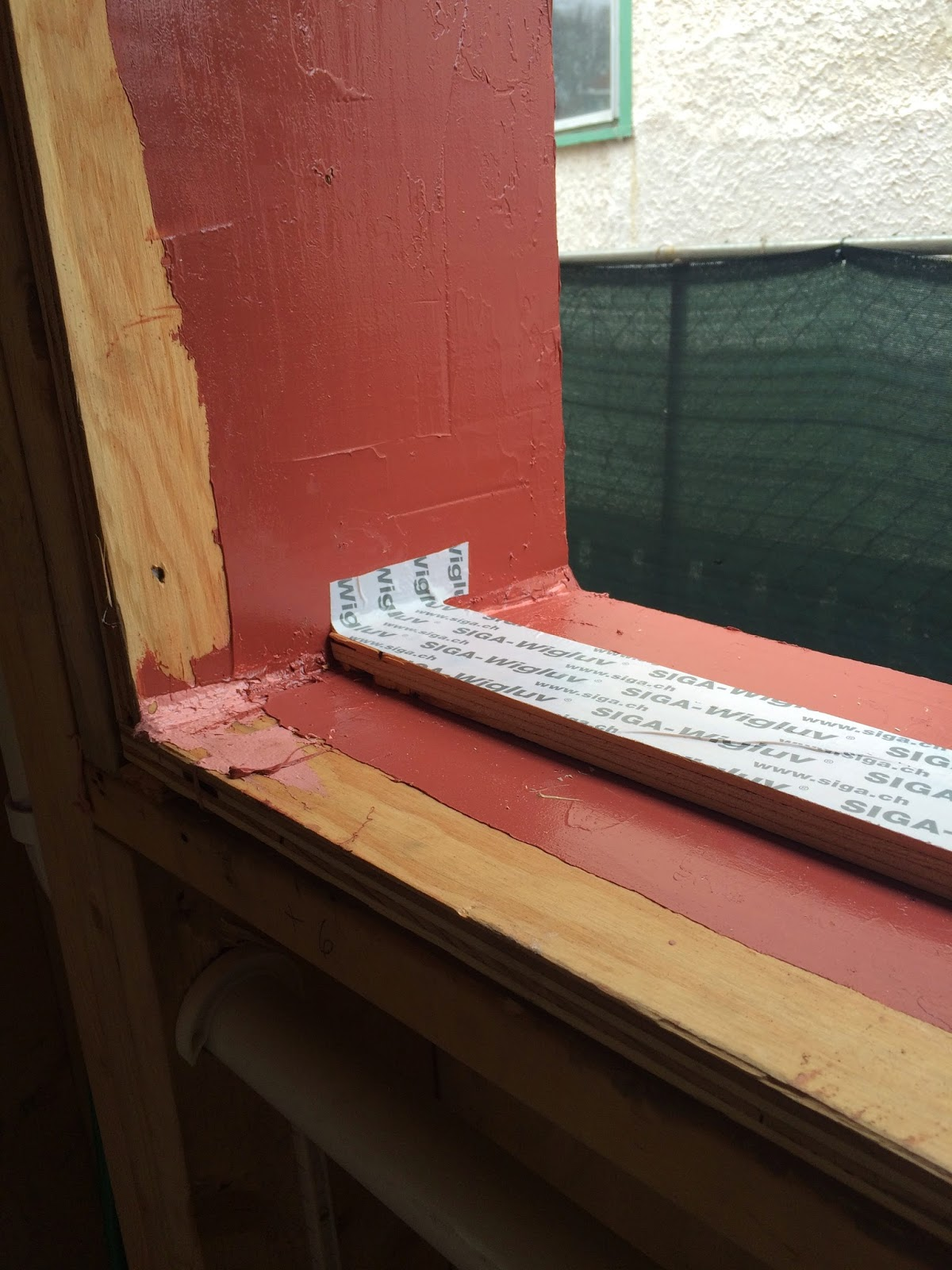 install  note how air barrier membrane runs to the interior of window #953E36