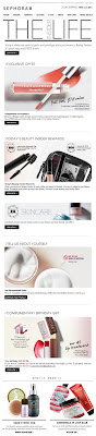 July 21, 2012 Sephora email