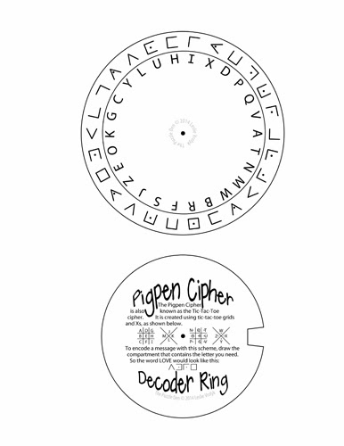 Pigpen Cipher Decoder Ring
