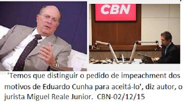 ÁUDIO : 'Temos que distinguir o pedido de impeachment dos motivos de Eduardo Cunha para aceitá-lo', diz autor