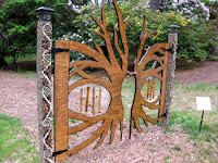 Photo of a most beautiful garden gate.
