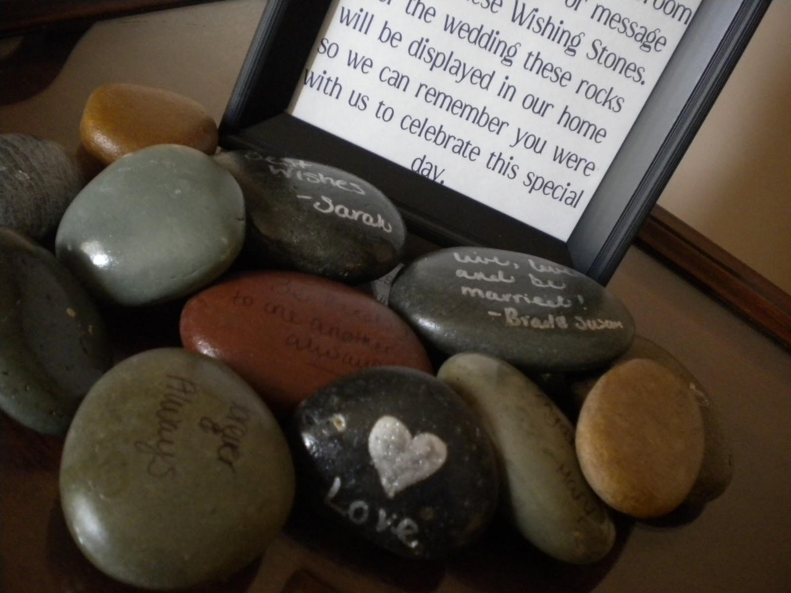The Pretty Wedding Wishing Stone Wedding Guest Book