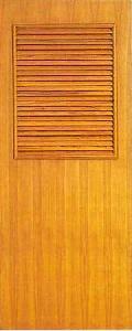 ประตูไม้อัดเจาะบานเกล็ด