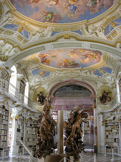 admont library, austria, mural, statues