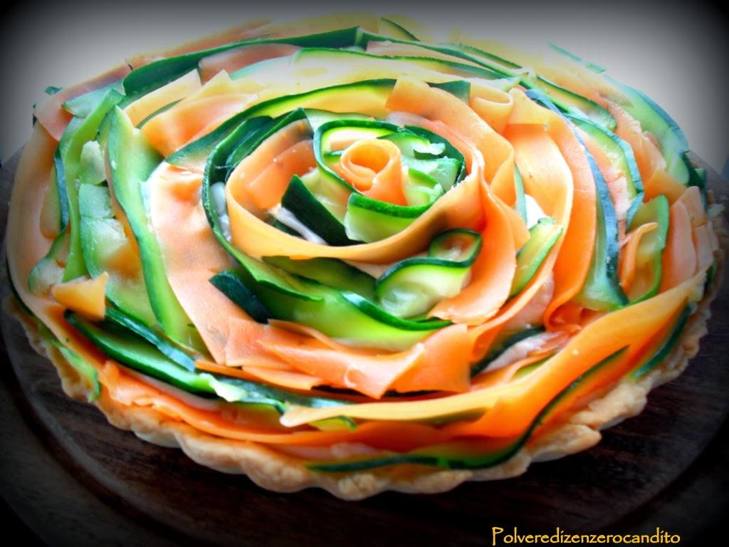 crostata primaverile di carote e zucchine