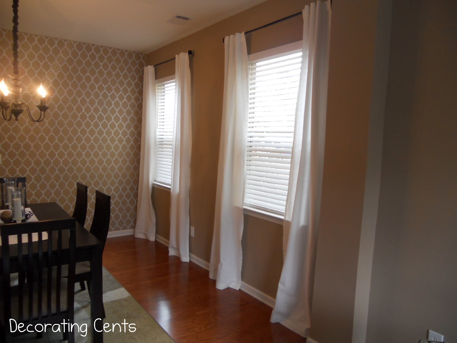 Curtain designs for dining rooms - Decorating Cents Dining Room Curtains