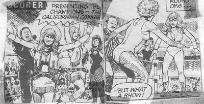 Women wrestling comics tag team