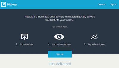 Conseguir visitas intercambiando tráfico con HitLeap
